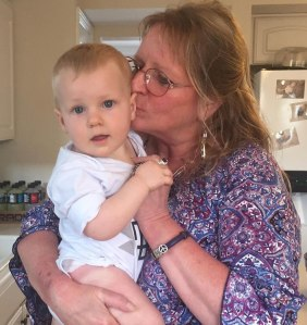 Trish with her grandson